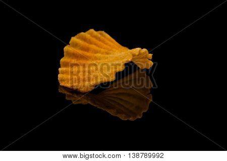 Potato Chip On Black