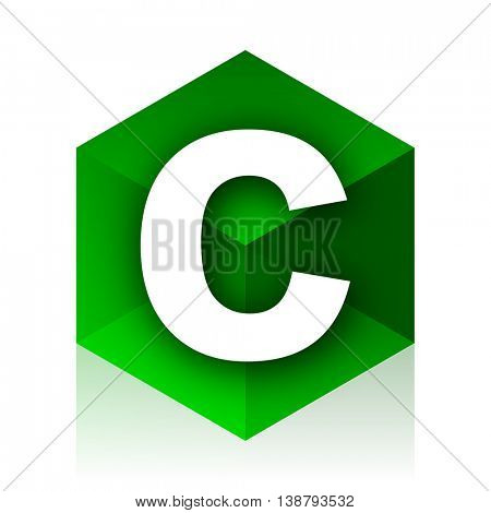 copyright cube icon, green modern design web element