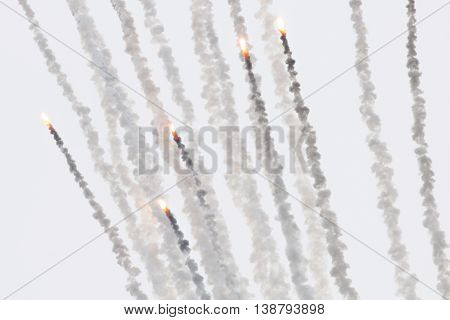Flares With A Trial Of Smoke