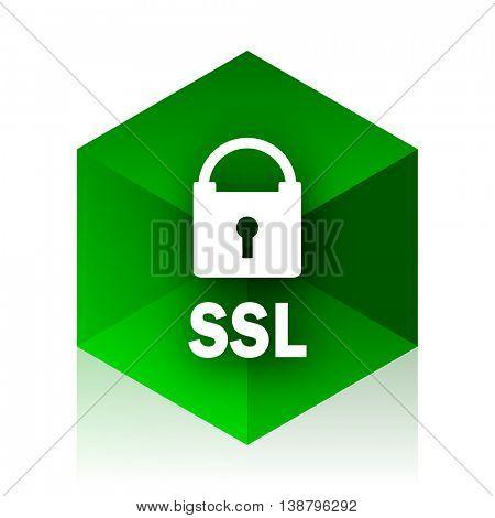 ssl cube icon, green modern design web element
