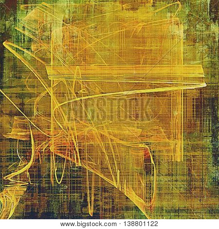Old background with grunge decorative elements. Retro composition for your design. With different color patterns: yellow (beige); brown; gray; green; red (orange)