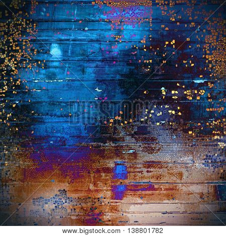 Stylish grunge texture, old damaged background. With different color patterns: yellow (beige); brown; black; blue; red (orange); purple (violet)