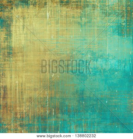 Grunge texture, decorative vintage background. With different color patterns: yellow (beige); brown; green; blue; cyan