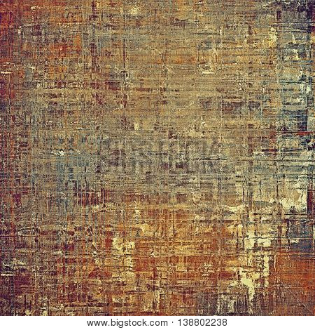 Elegant vintage background, grunge design template. Ancient texture with different color patterns: yellow (beige); brown; gray; blue; red (orange); purple (violet)