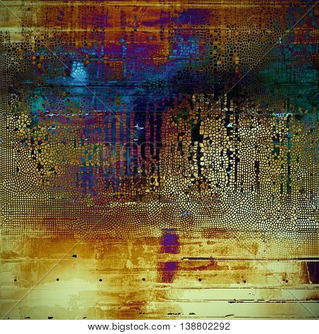 Abstract faded retro background or shabby texture with vintage style design and different color patterns: yellow (beige); brown; green; blue; red (orange); purple (violet)