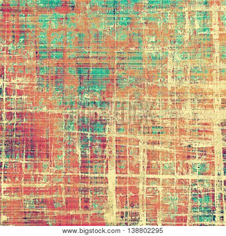 Retro colorful background or creative old style texture with different color patterns: yellow (beige); brown; green; blue; red (orange); pink