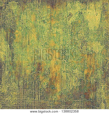Elegant vintage background, grunge design template. Ancient texture with different color patterns: yellow (beige); brown; gray; green; purple (violet)