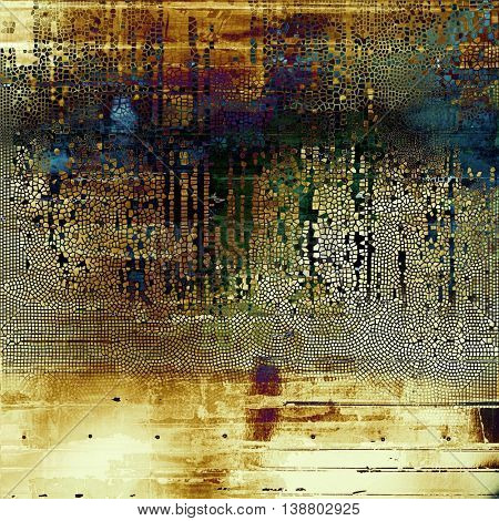 Abstract vintage colored background. With different color patterns: yellow (beige); brown; green; blue; purple (violet); cyan