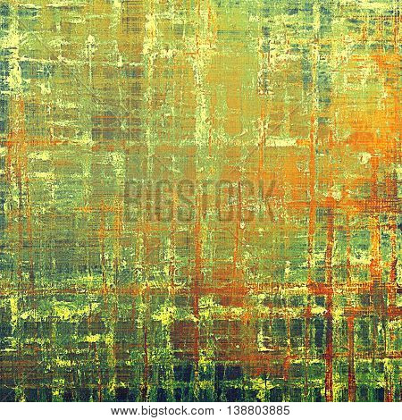 Stylish grunge texture, old damaged background. With different color patterns: yellow (beige); brown; green; red (orange)