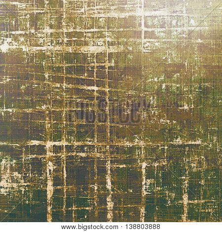 Highly detailed scratched texture, aged grungy background. Vintage style composition with different color patterns: yellow (beige); brown; gray; green; purple (violet); white