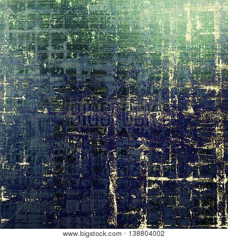 Vintage background in scrap-booking style, faded grunge texture with different color patterns: yellow (beige); black; green; blue; cyan