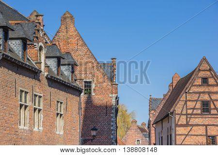 Houses in the old quarter Begijnhof in Leuven Belgium