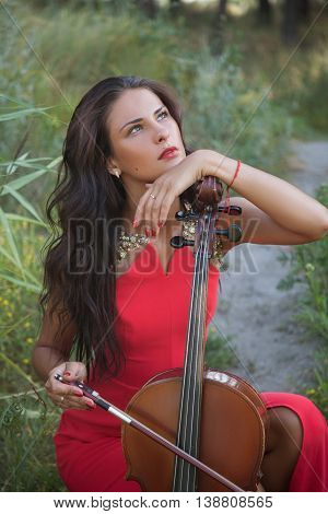 Portrait Of A Girl With A Cello