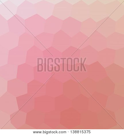 Pink hexagon illustration. Background with hexagons. Pink honeycombs pattern.