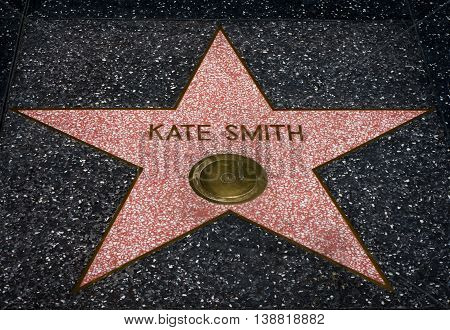 Kate Smith Star On The Hollwyood Walk Of Fame