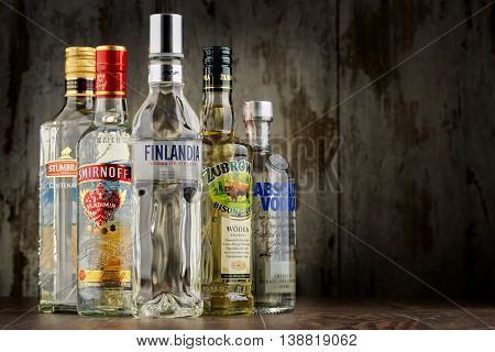 POZNAN POLAND - JULY 15 2016: vodka is the world