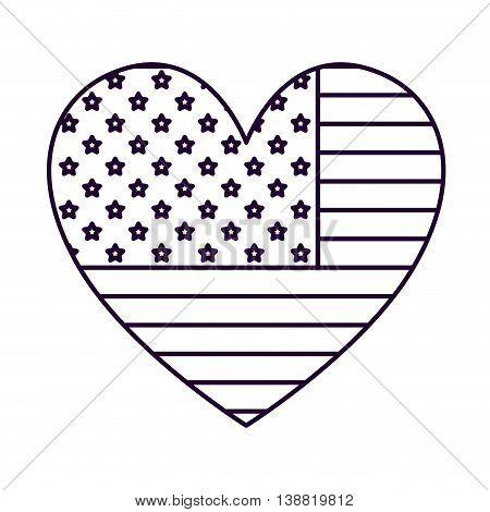 patriotic heart isolated icon design, vector illustration  graphic