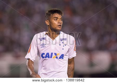 Rio de Janeiro Brazil - April 10 2016: Bruno Viana player in match between Fluminense and Cruzeiro by the Brazilian championship in the Giulite Coutinho Stadium