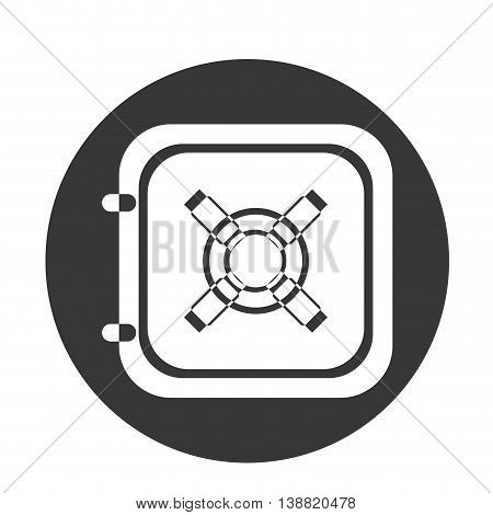 safe cage strongbox object icon vector illustration