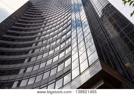 Reflection Of The Sky On Columbia Center In Seattle, Washington, United States
