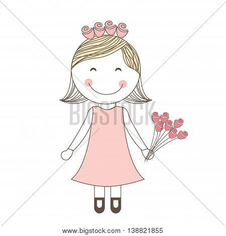 lovely wife dress wedding icon, vector illustration