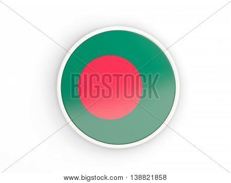 Flag Of Bangladesh. Round Icon With Frame