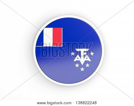 Flag Of French Southern Territories. Round Icon With Frame