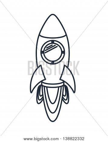 rocket launcher isolated icon design, vector illustration  graphic
