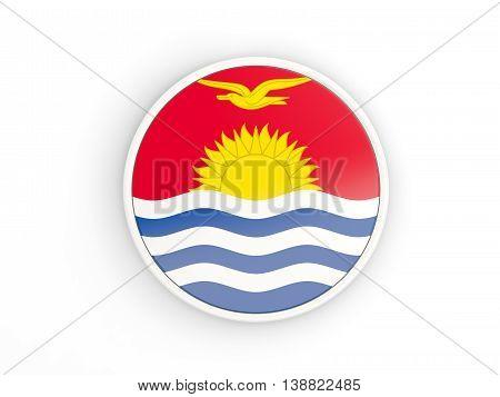 Flag Of Kiribati. Round Icon With Frame