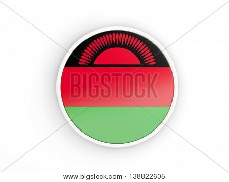 Flag Of Malawi. Round Icon With Frame