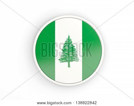 Flag Of Norfolk Island. Round Icon With Frame