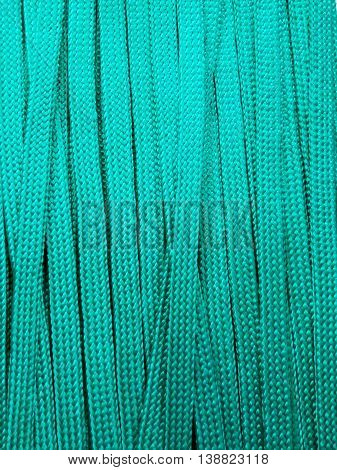 Green flat ropes pattern as the background