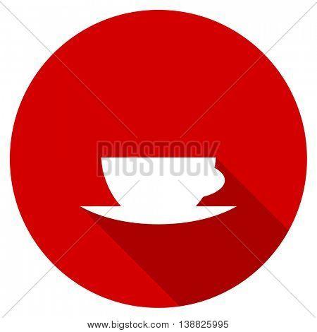espresso vector icon, red modern flat design web element