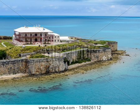 National Museum of Bermuda looks out over the Atlantic Ocean