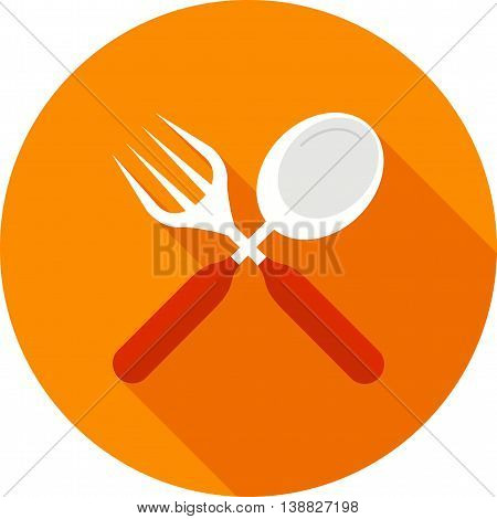 Fork, knife, spoon icon vector image. Can also be used for kitchen. Suitable for use on web apps, mobile apps and print media.