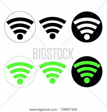 Signal Wifi Black And Green