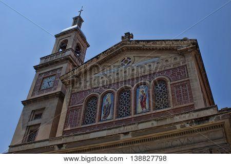 Church of Saints Gervasio and Protasi. Plaza Bonanova Barcelona