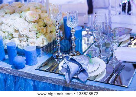 Wedding decorated resturant