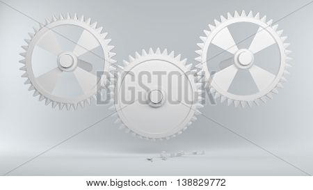Gears With Broken Teeth Symbolize Error In The System