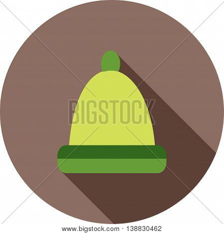 Winter, cap, head icon vector image. Can also be used for seasons. Suitable for use on web apps, mobile apps and print media.
