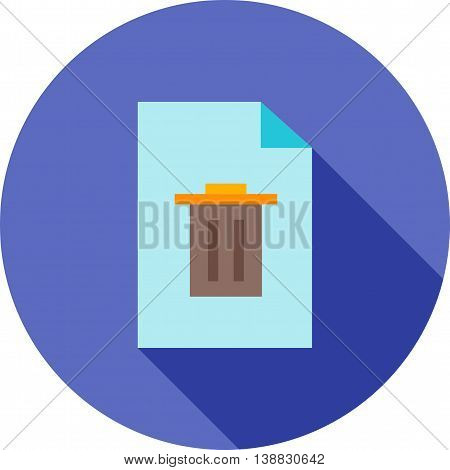 Trash, bin, file icon vector image. Can also be used for data sharing. Suitable for mobile apps, web apps and print media.