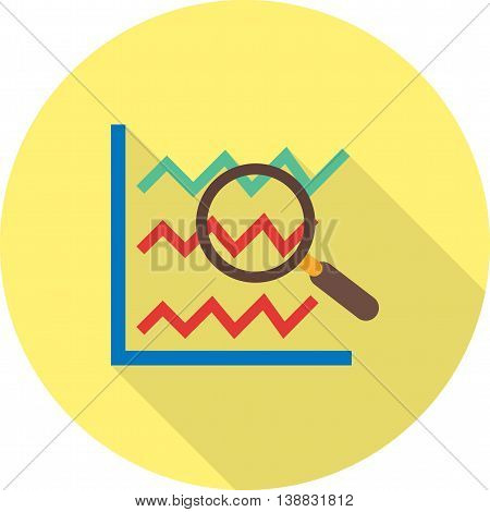 Stats, chart, analyze icon vector image.Can also be used for data sharing. Suitable for mobile apps, web apps and print media.