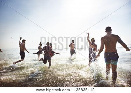 Friendship Happiness Beach Summer Holiday Concept