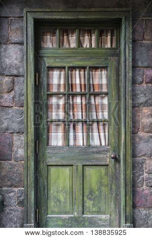 Antique door retro style