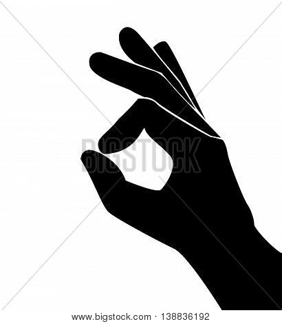hand OKAY sign and symbol vector illustration