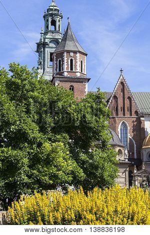 Wawel Cathedral - coronation place of Polish kings- on Wawel Hill Kraow Poland