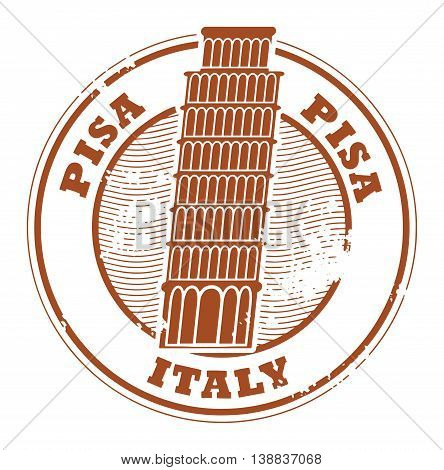 Grunge rubber stamp with words Pisa, Italy inside, vector illustration