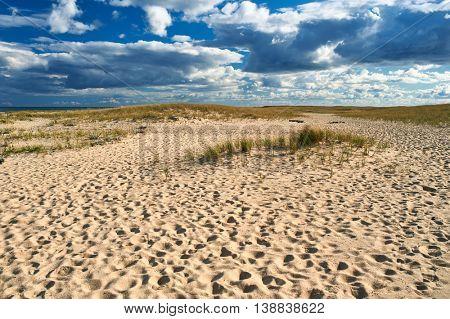 Sand dunes at Cape Cod, Massachusetts, USA.