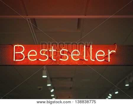 Best Seller signage Shop Retail Marketing promotion Neon type