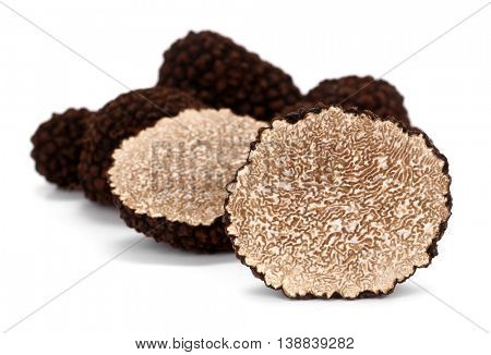 Truffle Tuber melanosporum mushrooms